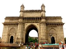 Gateway of India. The Gateway of India is a monument built during the British Rule in Mumbai City of Maharashtra state in Western India . It is located on the Royalty Free Stock Image