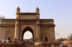 Gateway of India, Mumbai. Gateway of India in Mumbai view from sea. It is synonymous with Mumbai & the starting point for most tourists who want to explore the Stock Photo