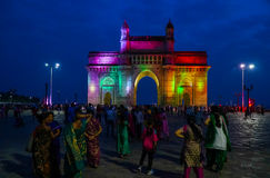 Gateway of india by night Stock Photo