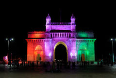 Gateway of India at night, Mumbai Stock Image