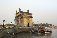 Gateway of India. The gateway of India was built in 1926 . Today its a big tourist attraction Royalty Free Stock Photos