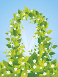 Gateway from leafs. Gateway from green leafs illustration vector illustration