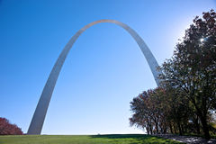 Gateway memorial arch in saint louis Royalty Free Stock Photography
