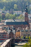 Gateway into old town of Heidelberg Germany Stock Images