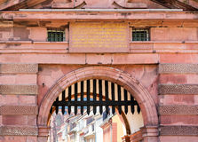 Gateway into old town of Heidelberg Germany Stock Photography