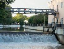 Gateway op de rivier Stock Afbeelding