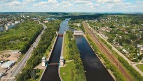 Gateway op de rivier Sluisdeuren