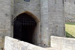 Portcullis at Warwick Castle, UK Stock Photography