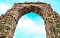 Gateway of Qubbat-ul-Islam mosque at Qutb Complex Royalty Free Stock Photo
