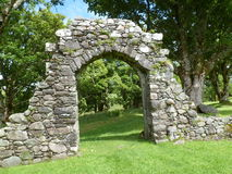 Gateway Ruin. Ruined gateway in the grounds of Carnasserie Castle, Argyll built in the 1560's. Perhaps originally a garden entrance Royalty Free Stock Photography