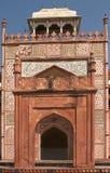 Gateway Sikandra. Gateway with ornaments in Sikandra, India Stock Photo