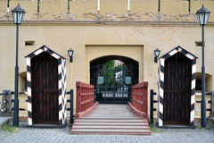 Gateway of the Skew Caponier Fortress in Kyiv, Ukraine Royalty Free Stock Photography