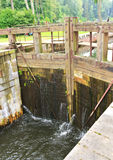 Gateway sul canale di Augustow Immagine Stock Libera da Diritti