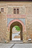 Gateway to the alhambra. Wine Gate, entrance to the Alhambra Stock Photo
