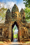 Gateway to ancient Angkor Thom in Siem Reap, Cambodia Royalty Free Stock Images