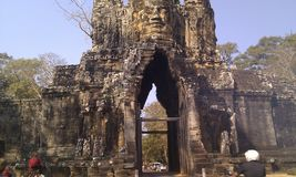 Gateway to Angkor Thom Royalty Free Stock Photos