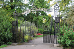 Gateway to a Botanical Gardens. Gateway to the Botanical Gardens of Victoria Park in Bath England Royalty Free Stock Photos