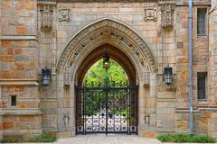 Branford Hall, Yale University, CT, USA. Gateway to Branford Hall in Yale University, New Haven, Connecticut, USA royalty free stock photos