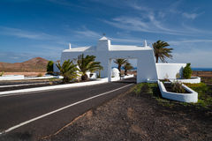 Gateway to Costa Teguise town, Lanzarote, Spain Royalty Free Stock Photography