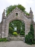 Gateway to a Country Estate Stock Photo