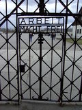 Gateway to Dachau. Entrance to Dachau concentration camp Royalty Free Stock Image