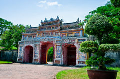 Gateway to the Forbidden City of Hue. The gateway to the Forbidden City inside the Royal Citadel of Hue, Vietnam Royalty Free Stock Image