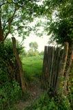 Gateway to the garden Stock Photo