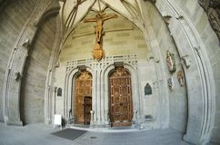 Gateway to the Gothic cathedral Royalty Free Stock Images
