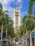 Gateway to Honolulu Harbor, the Aloha Tower Stock Photo