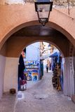 Gateway to the  medina Chefchaouen, Morocco Royalty Free Stock Images