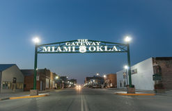 Gateway to Miami Oklahoma on Route 66. Stock Images