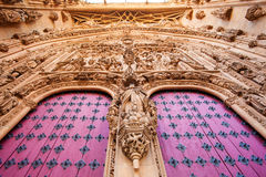 Gateway to the New Cathedral in Salamanca Royalty Free Stock Images