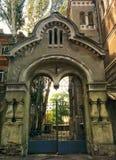 gateway to old courtyard Stock Photo