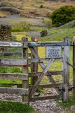 Gateway to the Rannerdale Bluebells stock images