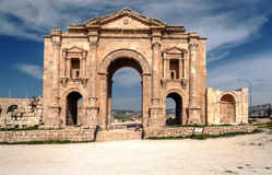 Gateway to the Roman ruins Royalty Free Stock Photography