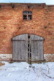 Gateway to the ruined barn Stock Image