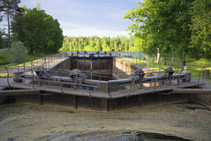 Gateway to the Saimaa Canal June morning. Finland Stock Photography