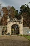 Gateway to a Scottish Estate. An elaborate, castle-like gateway to a Scottish estate royalty free stock photography