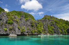 Gateway to Small Lagoon, El Nido Royalty Free Stock Images