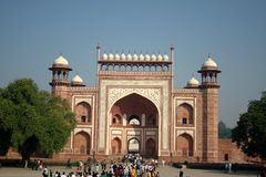 Gateway to Taj Mahal, Agra stock photography
