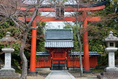 Gateway to a temple in Kyoto Royalty Free Stock Image