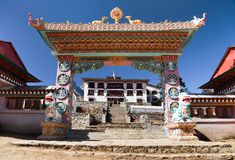 Gateway to Tengboche Gompa or Monastery Stock Photography