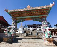 Gateway to Tengboche Gompa or Monastery Royalty Free Stock Photo
