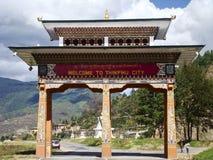 Gateway to Thimphu city in Bhutan Stock Image