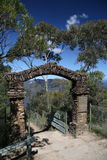 Gateway. To the Three Sisters rock formation in the Blue Mountains, Australia Royalty Free Stock Photos