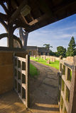 Gateway to a traditional English churchyard Stock Images