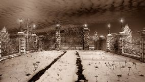 Gateway to the winter garden Royalty Free Stock Photos