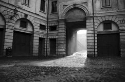 Gateway in townhouse Royalty Free Stock Image