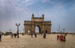 Gateway van India in Mumbai stock foto's