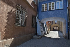 Gateway at Warsaw's old town. Stock Image